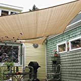 E&K Sunrise 10' x 15' Beige Sun Shade Sail Square