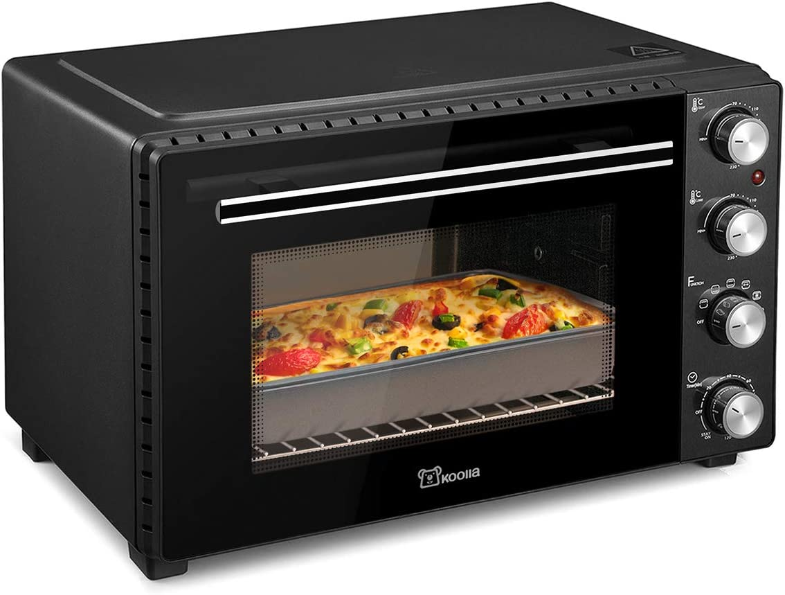 Toaster oven |Mini oven| electric oven | Oven | Small oven | removable crumb tray | Interior lighting | 3D recirculation | 1700 watts (35 Liters, Black)
