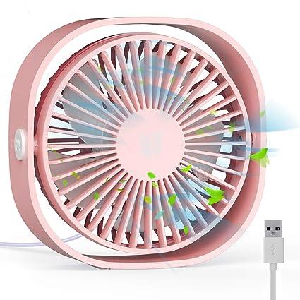 RATEL Mini USB Tischventilator,12,5 cm Mini-Schreibtisch Ventilator mit 1,2 Mete