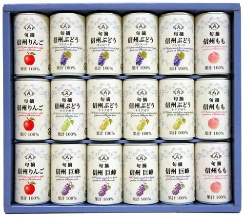 Shinshu not from-concentrate juice set MCG-340 160gX18 cans by ALPS