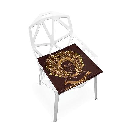 Amazon.com: doenr African American Mujer cojín de asiento ...