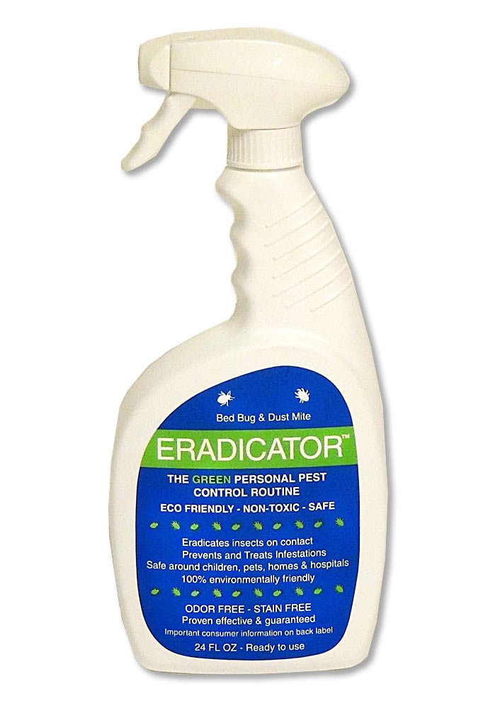 Bed Bug, Dust Mite ERADICATOR Combo 24oz Ready to use Spray with 1 Gallon Refill, Natural Solution That Safely removes Bugs, Scientific Efficacy Test Proven - 24oz & 128oz Combo Ready to use Spray by ERADICATOR