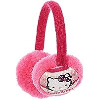 Pendientes infantiles Hello Kitty rosa y negro, talla única (rosa)