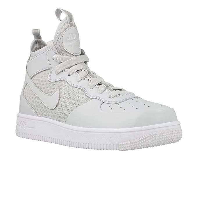 Zapatillas Nike - Air Force 1 Ultraforce Mid (GS) gris/blanco/gris talla: 40: Amazon.es: Zapatos y complementos