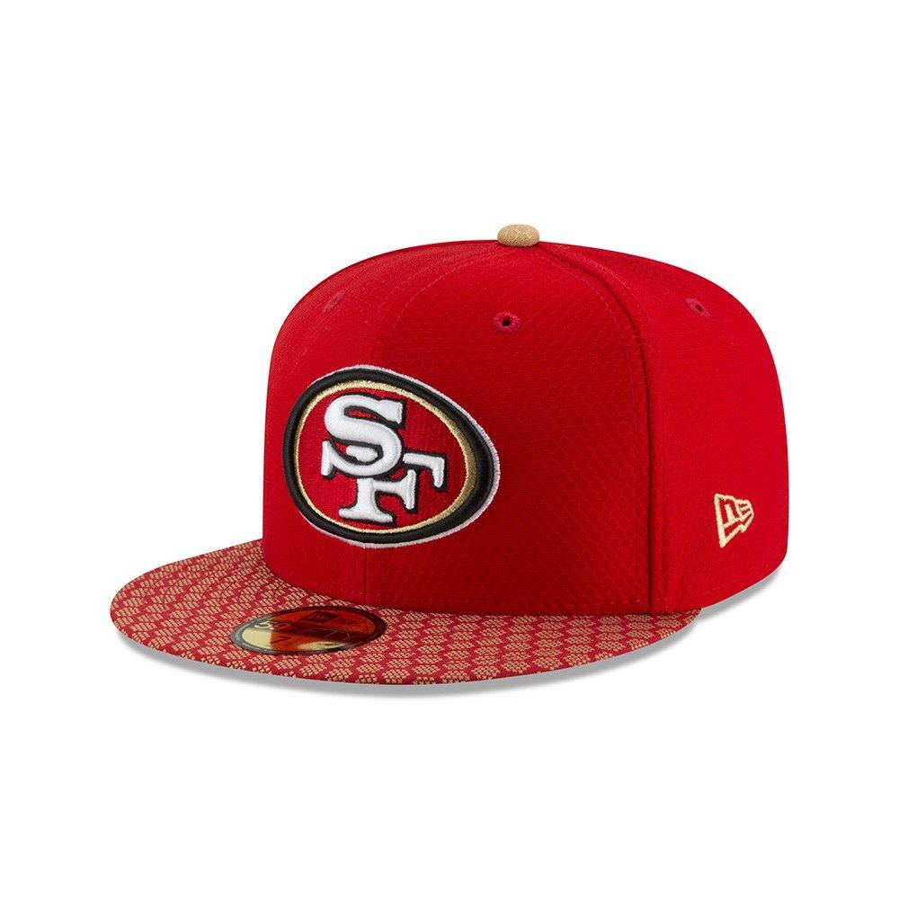 ニューエラ (New Era) 59フィフティ キャップ - NFL サイドライン 2017 サンフランシスコフォーティナイナーズ (San Francisco 49ers) 7 1/8 (56.8cm)   B0747QQD5J