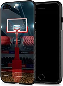 ANLUN STORE iPhone SE 2020 Case,Tempered Glass iPhone 8 Case,Basketball Rack iPhone 7 Cases [Anti-Scratch] Fashion Cute Cover Case for iPhone 7/8/SE2 4.7-inch Basketball Rack