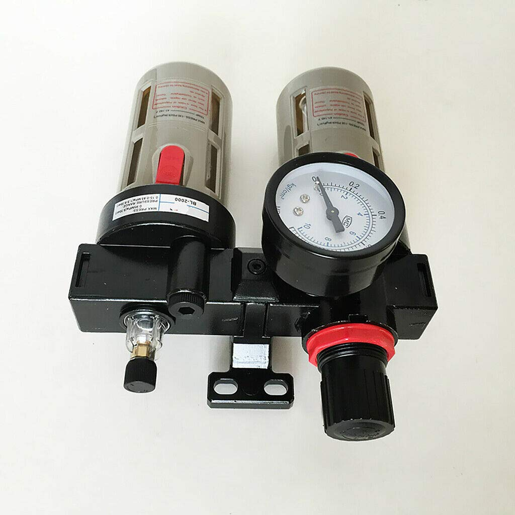 Pumps /& Plumbing Adjustable Pressure Air Filter Regulator Combination Lubricator BFC3000