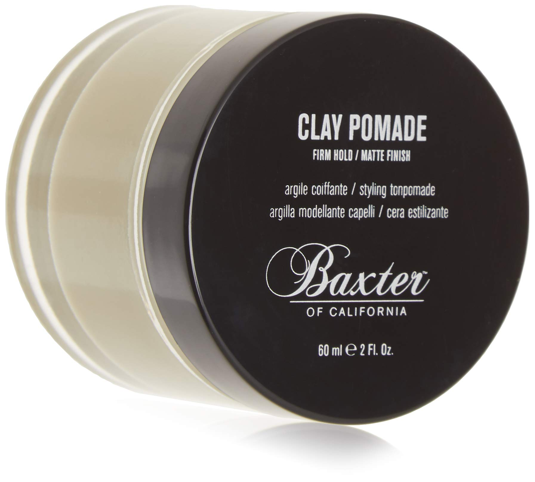 Baxter of California Clay Pomade, Matte Finish/Strong Hold, Hair Pomade for Men, 2 fl. Oz