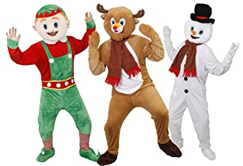 Christmas Fancy Dress.Adults Novelty Christmas Fancy Dress Costumes Deluxe Group