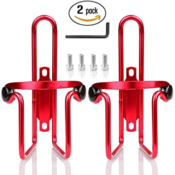 Red Aluminum Alloy Bike Bicycle Water Bottle Cage