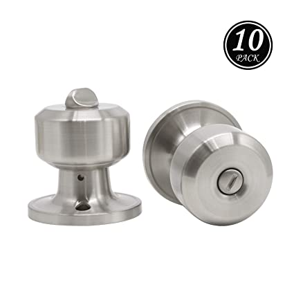 Merveilleux Privacy Door Knobs In Satin Nickel Finish, Bed Or Bath Door Handles, Brushed  Nickel