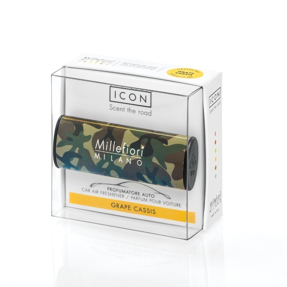 Millefiori Milano 16  CAR24  Grape Cassis Deodorante per Auto Icon, Linea Animalier 16CAR24