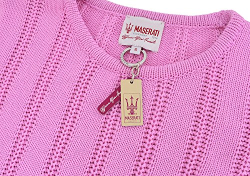 Maserati Chandail en coton rose pour femme Officine Alfieri Maserati