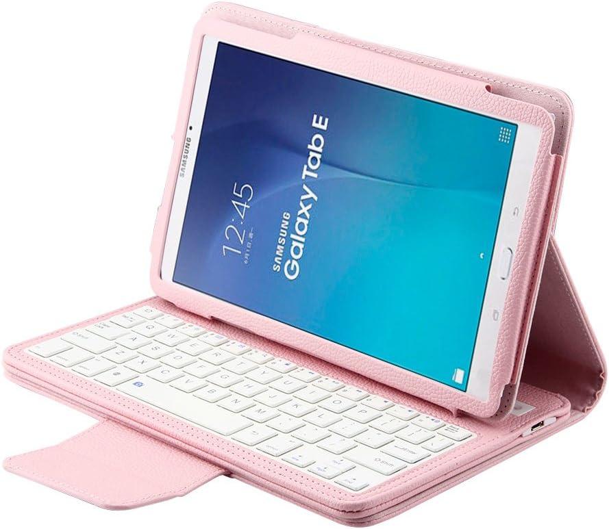 J&H Samsung Galaxy Tab E 9.6 Funda de piel con teclado para ...