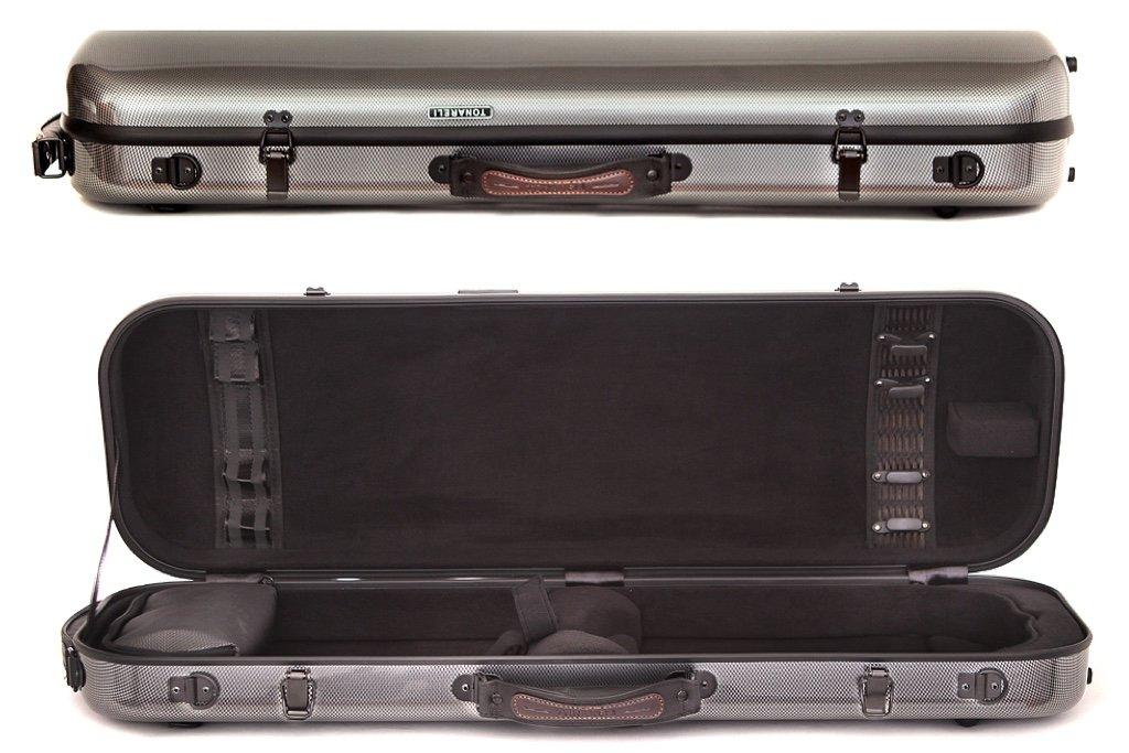 Tonareli Violin Oblong Fiberglass Case- Graphite Special Edition VNFO 1008 4/4