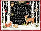 LANG 1004777  - ''Peace in Our Hearts'', Boxed Christmas Cards, Artwork by Susan Winget'' - 18 Cards, 19 envelopes - 5.375'' x 6.875''