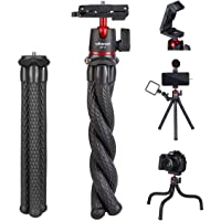 ULANZI Camera Tripod, Mini Flexible Tripod Stand with Hidden Phone Holder w Cold Shoe Mount, 1/4'' Screw for Magic Arm…
