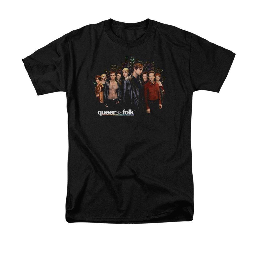 Queer As Folk Title Adult Regular Fit T-shirt