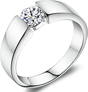 SaySure - 925 Sterling Silver Crystal Simulated Diamond Ring