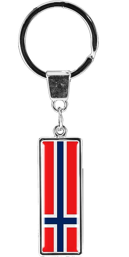 metALUm Llavero de metal/Bandera la Noruega / 6612021S ...