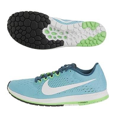 41172e71c20fa NIKE Men s Zoom Streak 6 Chlorine Blue White Legion Blue Nylon Running Shoes  9.5
