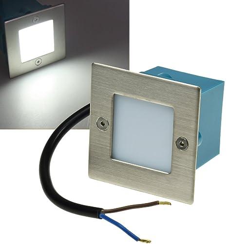 Stufenlicht Led led wall light stainless steel ip54 230 v 1 5 w square cold white