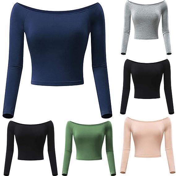 Longra ❤ ❤ Blusa sin Mangas con Cuello Holgado y Cuello Alto para Mujer: Amazon.es: Ropa y accesorios