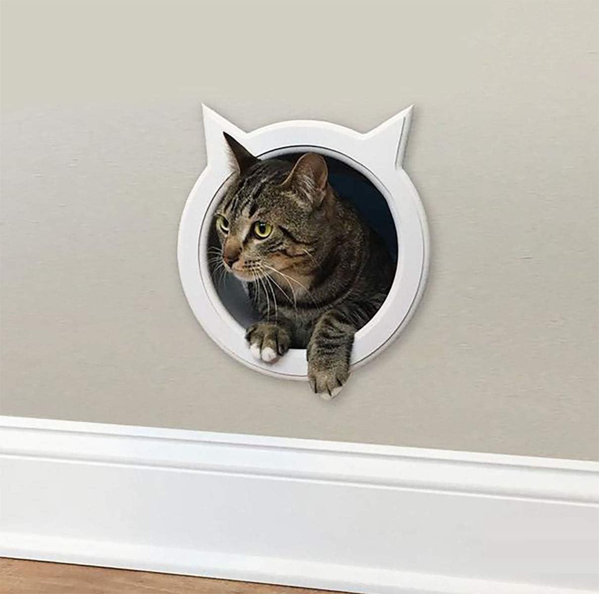 The Kitty Pass Wall Entry cat Door, Cat Door Tunnel, Cat Wall Door Pet Door Hidden Litter Box.n