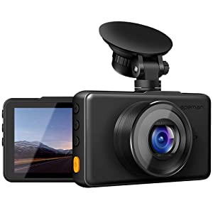 "APEMAN Dash Cam 1080P FHD DVR Car Driving Recorder 3"" LCD Screen 170° Wide Angle, G-Sensor, WDR, Loop Recording, Night Vision, Motion Detection"