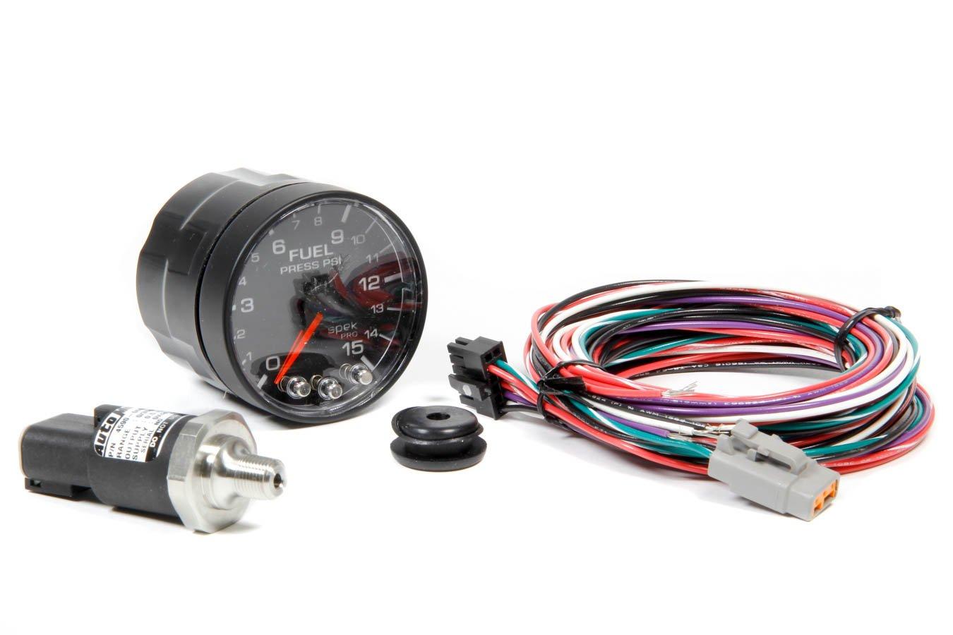 ProParts P315328 Spek-Pro 2-1/16'' Electric Fuel Pressure Gauge (0-15 PSI, 52.4mm)