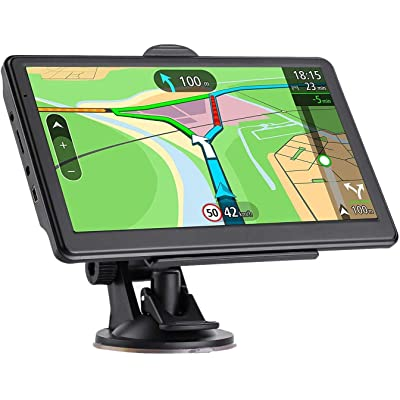 GPS Navigation for car, 7-Inch HD Car GPS 256-8GB Voice Broadcast Navigation, top-Loading North America map (USA, Canada, Mexico map) Lifetime map Free Update: GPS & Navigation