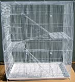 New Large Economical 4 Levels Ferret Chinchilla Sugar Glider Rats Cage For Small Animal or Bird 30''Length x 18''Depth x 36''Height *White*