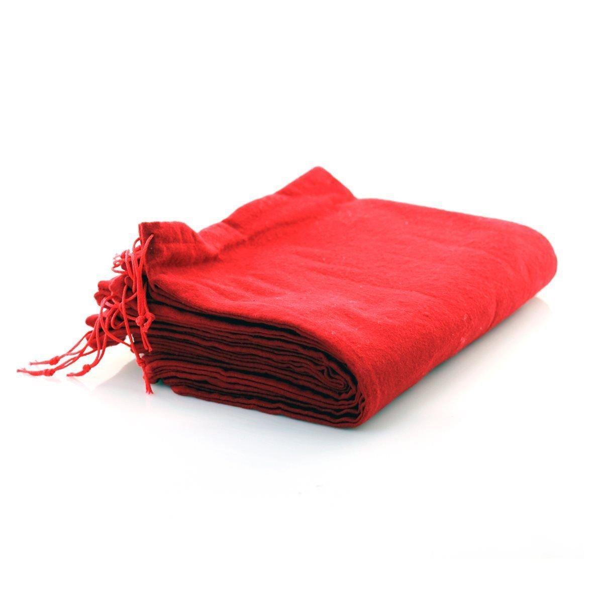 10 pieza Bolsa para zapatos de algodón con cordón 37 x 27 cm Rojo