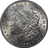 #10: 1921 U.S. Morgan Silver Dollar Coin, Brilliant Uncirculated Condition