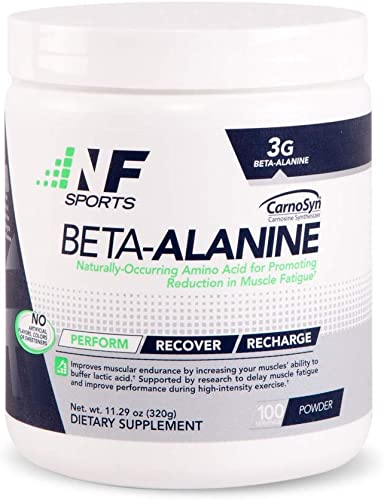 NF Sports Beta-Alanine Naturally Occurring Amino Acid Promoting Reduction in Muscle Fatigue and Improved Performance – 100 Satisfaction Guaranteed – 100 Servings