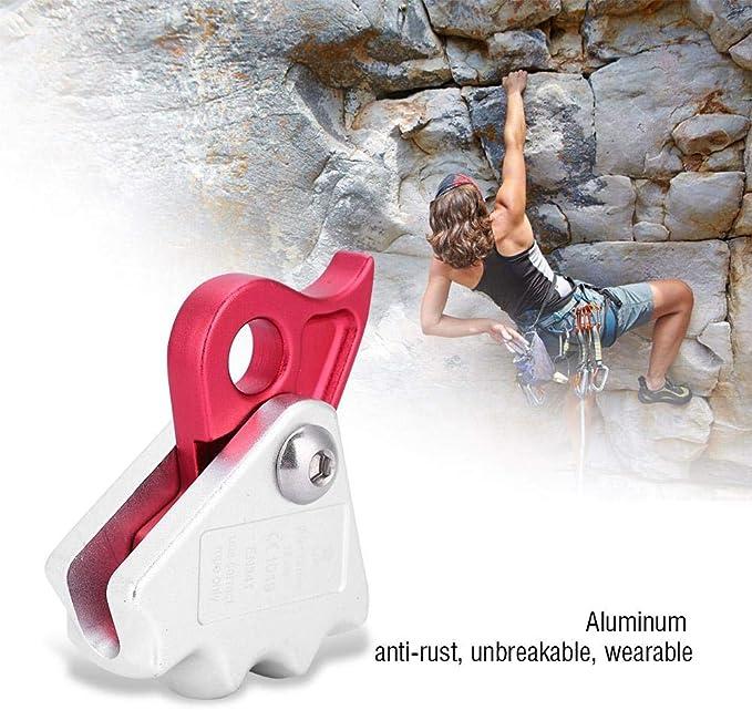 VGEBY1 Descensor de Cuerda, Descensor de Escalada 15KN GearRock Climbing Rope Grab para Escalar