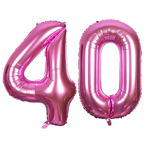 SMARCY Palloncini 40 Anni Palloncino per la Decorazione del 40