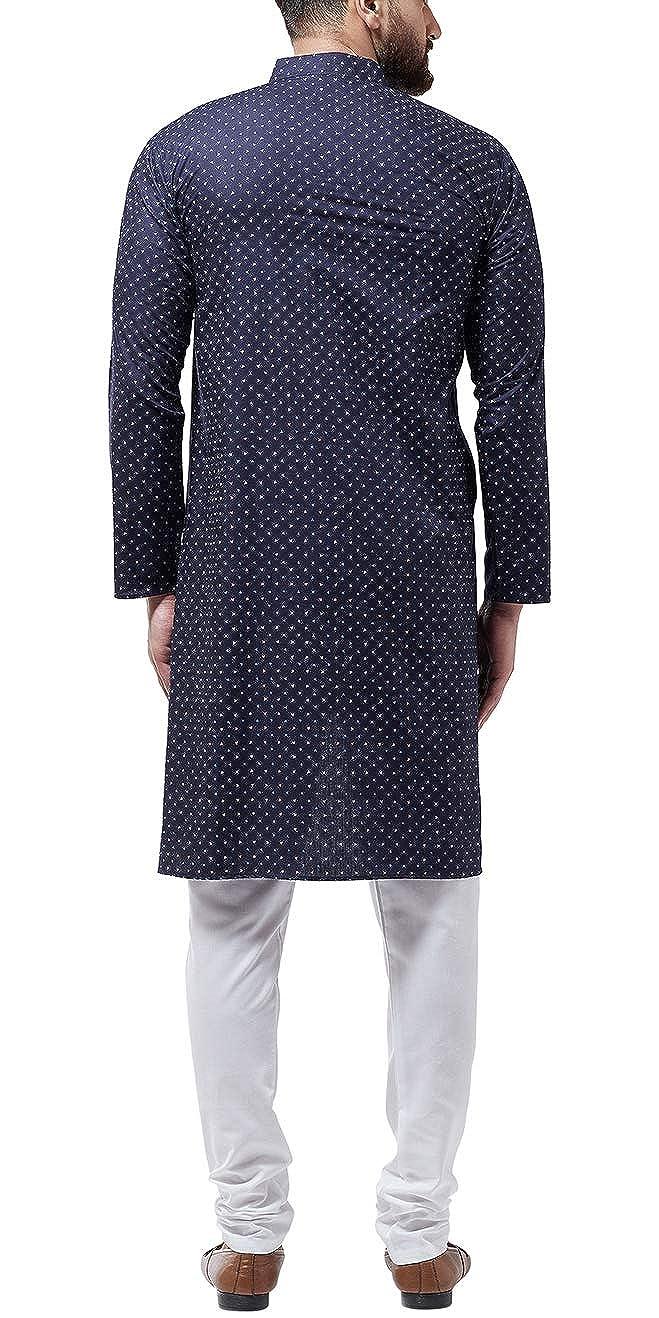 Bollywood-Indian-Kurta-Pajama-Dress-Tunic-Printed-Top-Men-Kurta-Ethnic-Wear thumbnail 25