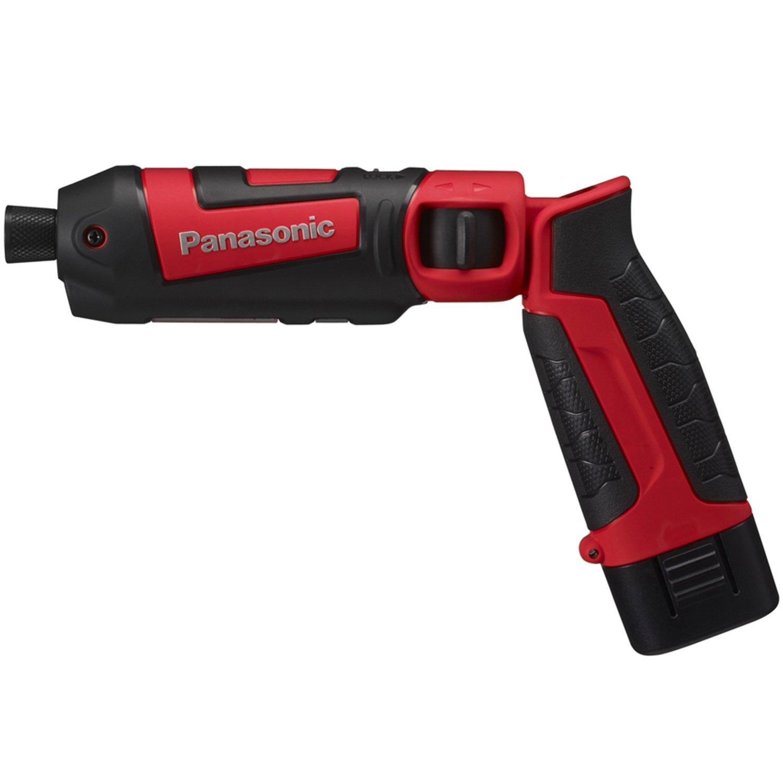 パナソニック(Panasonic) 充電スティック インパクトドライバー 7.2V 赤 電池2個付 EZ7521LA2S-R B01N5JG375 レッド