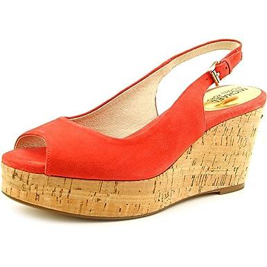 2bee7b93691b Amazon.com  Michael Kors Women s Natalia Leather Platform Sandal ...