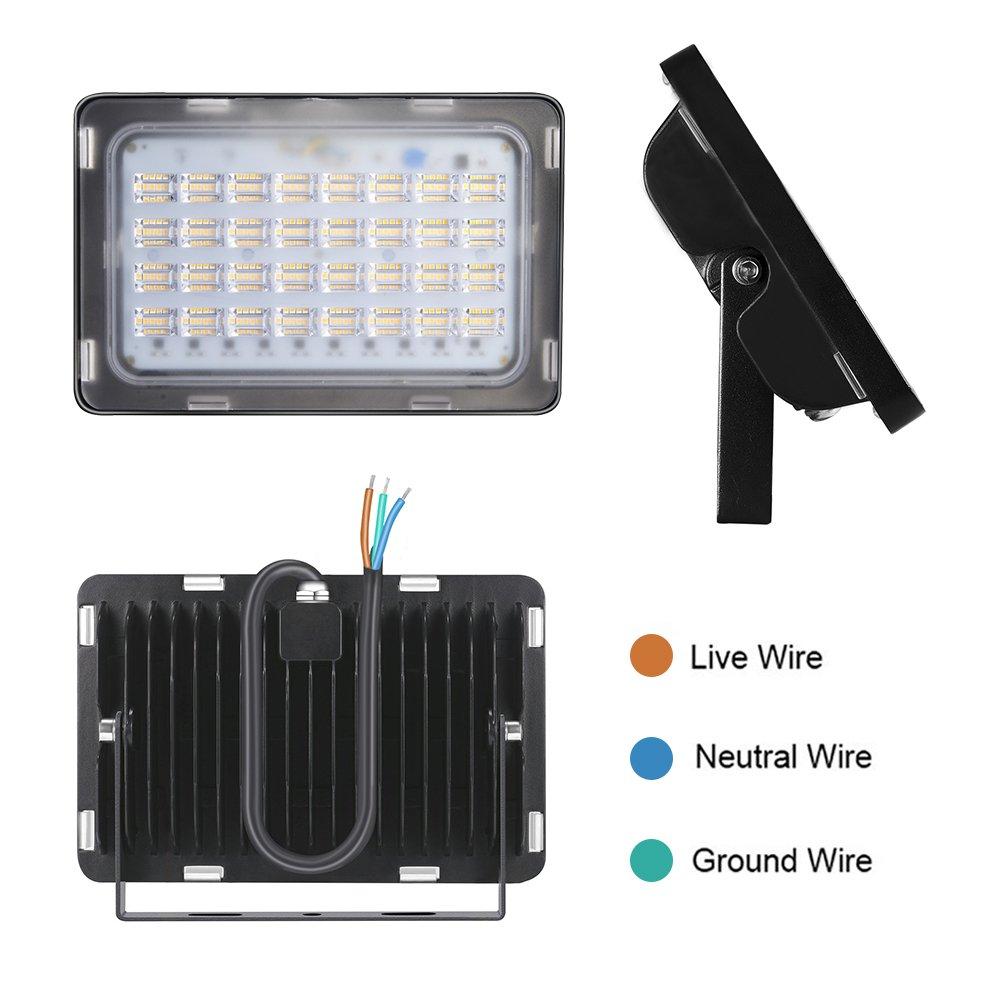 LED Flutlicht, Echoming 100W LED Fluter Außenleuchte 12000LM IP65 ...