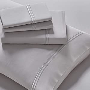 Purecare Elements Modal 4-Piece Sheet Set, Precision-Fit Corners, Enveloping Pillowcases, King, Dove Gray (PCSM-K-GY)