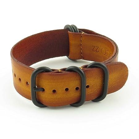 Leather Zulu watch strap
