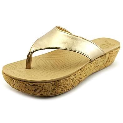 15126dfd12593f Crocs Women s A-Leigh Brushed Metallic Flip
