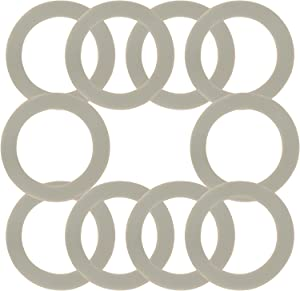 10 PCS Blender Gasket Replacement Rubber Gasket Seal, Compatible with Cuisinart CBT-500, SB5600, CB600, SPB-456-2B and Oster and Osterizer Blenders (Grey)
