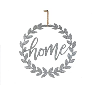 NIKKY HOME Metal Cutout Home Word Art Hanging Door Sign Plaque 18  x 17