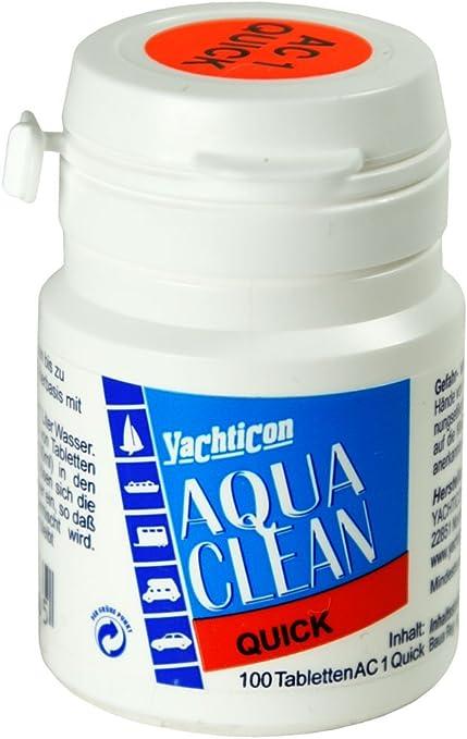 100 comprimidos Aqua Clean AC 1 para la desinfección del agua ...