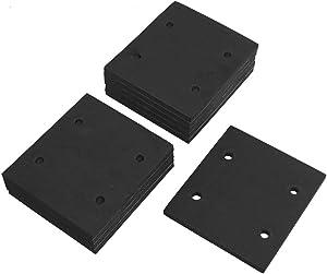 ZXHAO Black Square Foam Adhesive Foam Replacement Sander Back Pad Sponge Gasket Rubber 10pcs