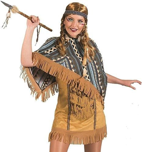 Das Kostümland Disfraz de Cherokee de Mujer India para Mujer ...