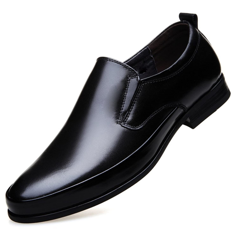 XYNXKZ Hombres Casual Cómodo Inglés Retro Moda Comercio Zapatos De Cuero Black